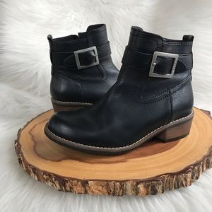 $249 Wolky side zip leather booties